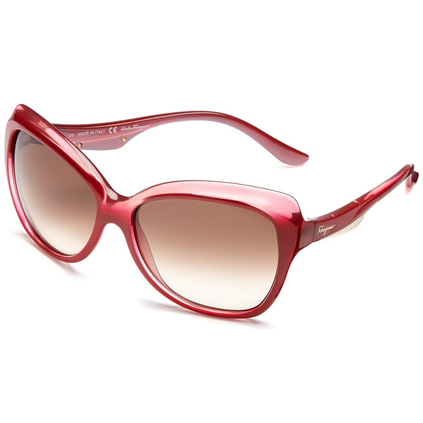 Salvatore Ferragamo Women's Red Gradient Butterfly Sunglasses with Gradient Lens - Citi Trends Accessories