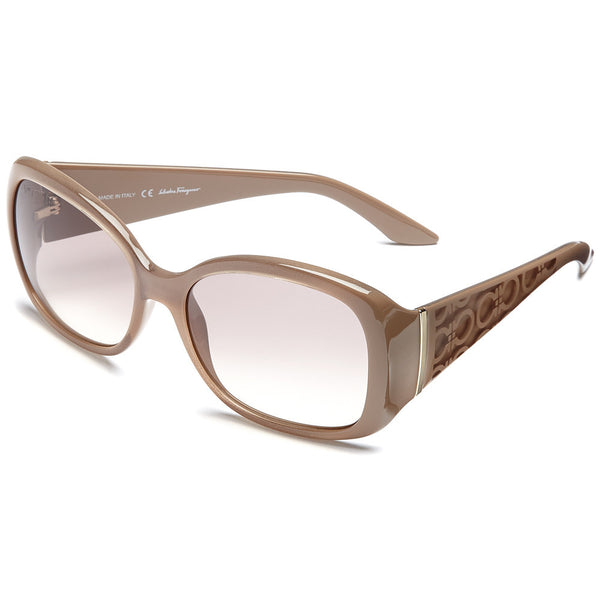 Salvatore Ferragamo Women's Taupe Square Sunglasses with Grey Gradient Lens - Citi Trends Accessories