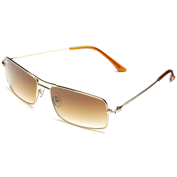 Ray-Ban Unisex Gold-Tone Rectangular Sunglasses with Brown Gradient Lens - Citi Trends Accessories