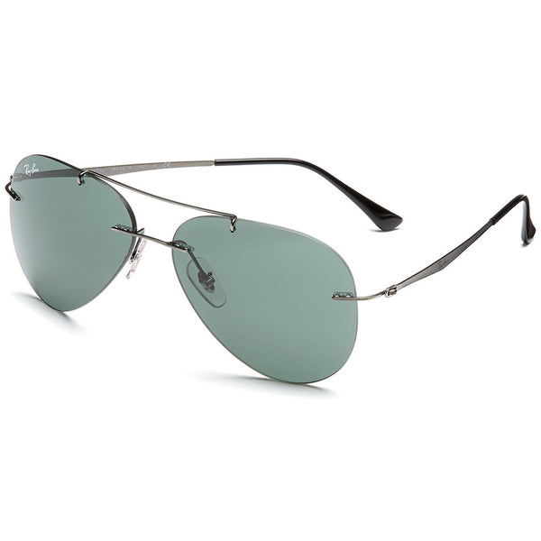 Ray-Ban Unisex Gunmetal Rimless Aviator Sunglasses - Citi Trends Accessories