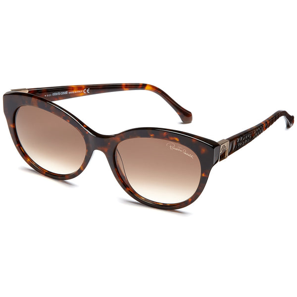 Roberto Cavalli Women's Dark Havana Round Sunglasses with Brown Gradient Lens - Citi Trends Accessories