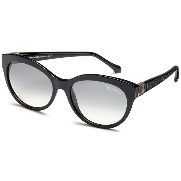 Roberto Cavalli Women's Albaldah Black Cat-Eye Sunglasses