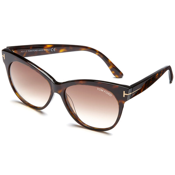 Tom Ford Women's Havana Cat-Eye Sunglasses With Brown Gradient Lens - Citi Trends Accessories