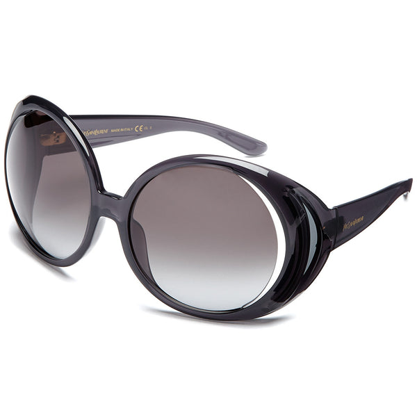 Yves Saint Laurent Women's Black Oversized Round Sunglasses with Semi-Open Lens - Citi Trends Accessories