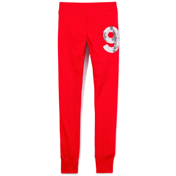 Love To Sparkle Girls Red Fleece Jogger - Citi Trends Girls - Back
