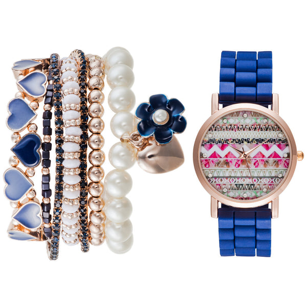 Seize The Daisy Watch And Bracelet Set - Citi Trends Accessories - Front