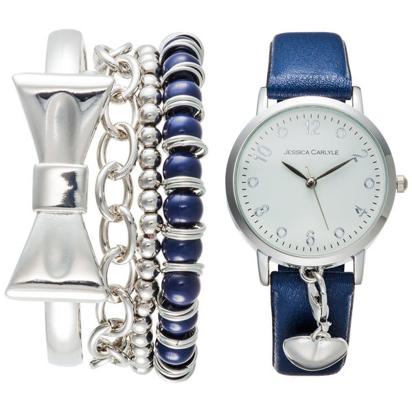 Bow-Dacious Glimmer Watch And Bracelet Set - Citi Trends Accessories - Front