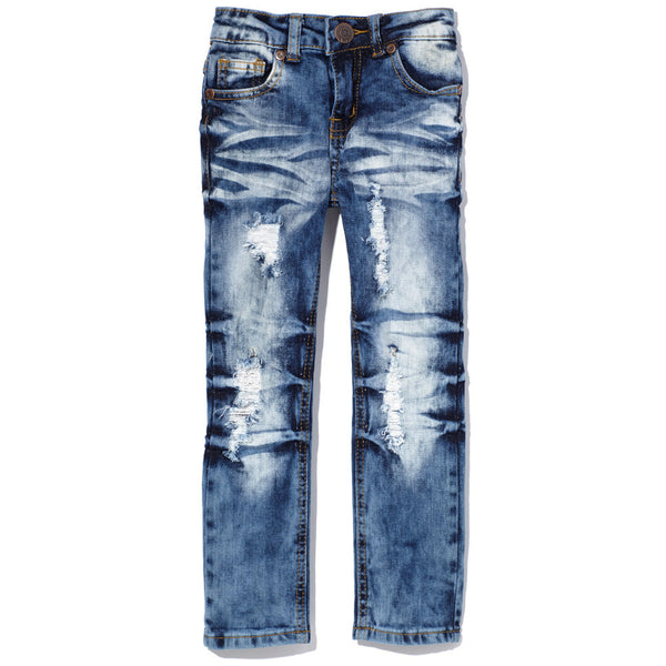 Denim Days Ahead Girls Distressed Skinny Jean - Citi Trends Girls - Front