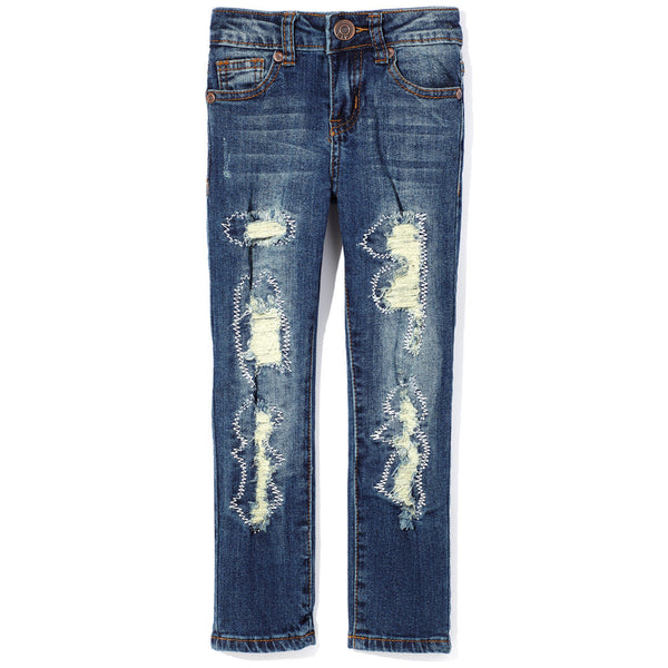 Stitch Fix Girls Rip And Repair Skinny Jean - Citi Trends Girls - Front