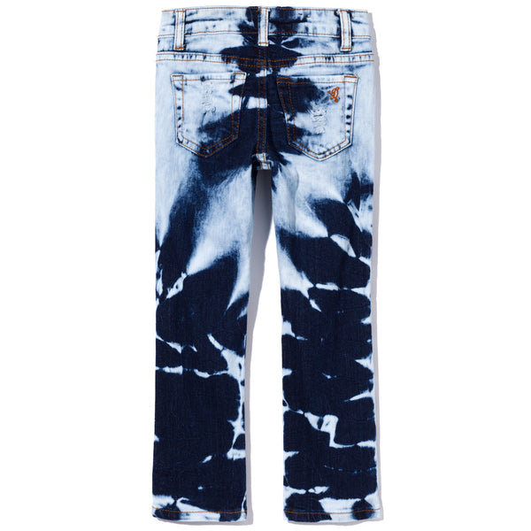 Bleached Dark Denim Rip And Repair Skinny Jean - Citi Trends Girls - Back