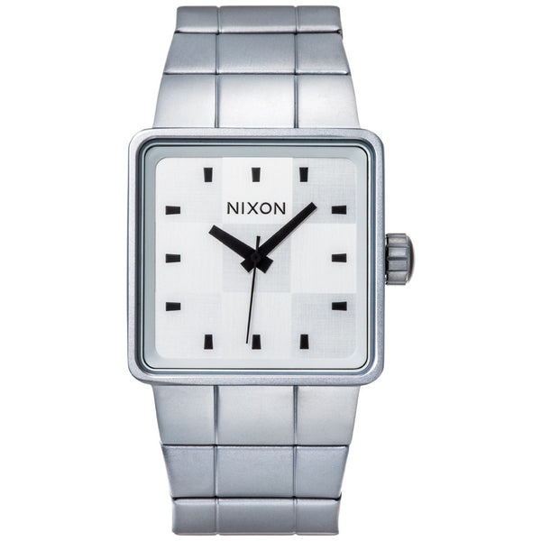 Nixon Men's Quatro Silver Stainless Steel Watch