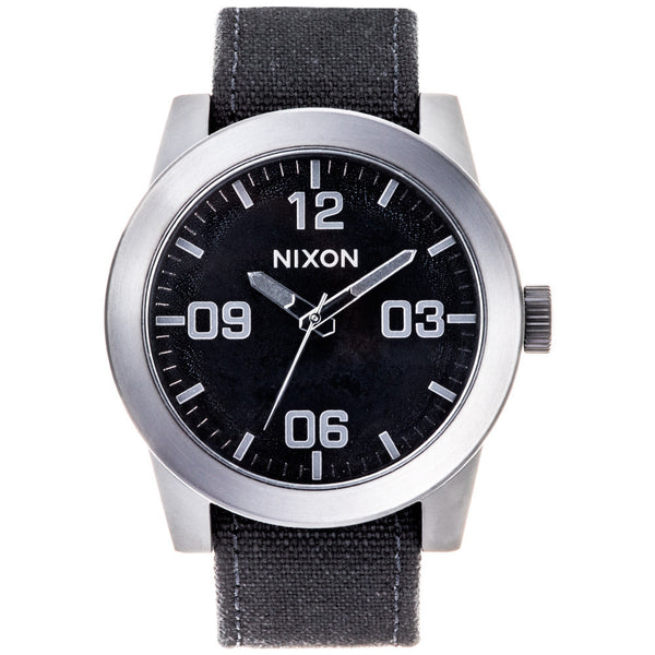 Nixon Men's Corporal Silver & Black Stainless Steel Watch - Citi Trends Designer - Front