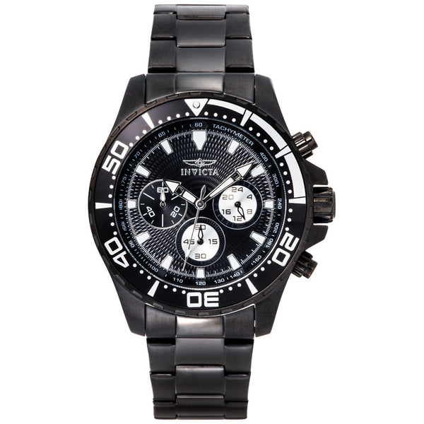Invicta Men's Pro Diver Black Stainless Steel Watch - Citi Trends Designer - Front
