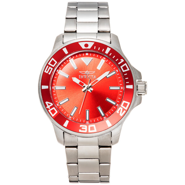 Invicta Men's Pro Diver Red Stainless Steel Watch