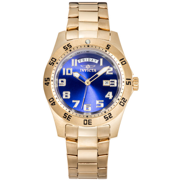 Invicta Men's 18K-Gold-Plated Specialty Watch - Citi Trends Designer - Front
