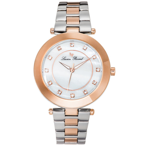 Lucien Piccard Women's Odessa Stainless Steel and Rose-Tone Watch - Citi Trends Designer - Front