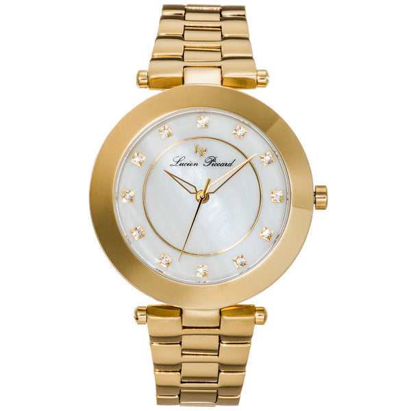 Lucien Piccard Women's Odessa Gold-Tone Stainless Steel Watch - Citi Trends Designer - Front