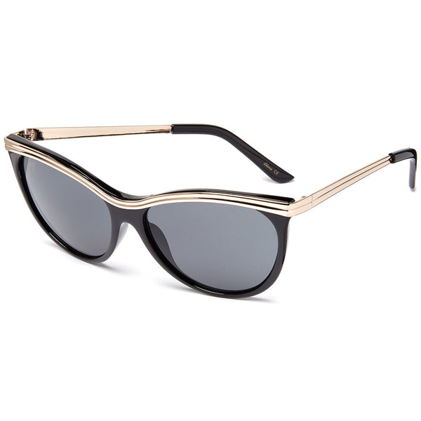 Betsey Johnson Women's Cat-Eye Sunglasses With Gold Brow Bar - Citi Trends Designer