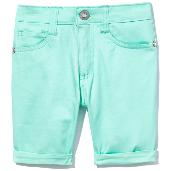 Go To Great Lengths Girls Mint Bermuda Short- Cititrends Girls - Front