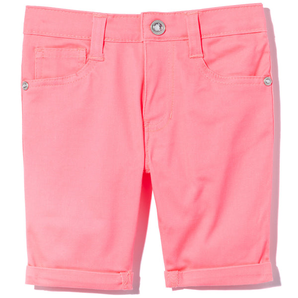 Go To Great Lengths Girls Neon Coral Bermuda Short- Cititrends Girls - Front