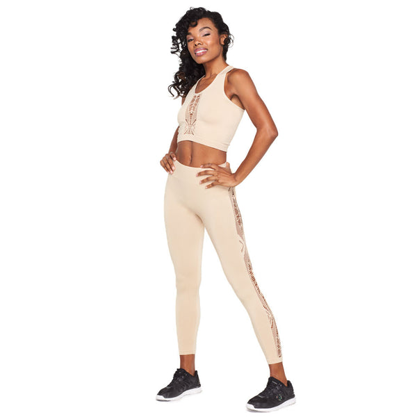 Laser Focus 2-Piece Crochet Panel Performance Set - Citi Trends Ladies and Plus - Front
