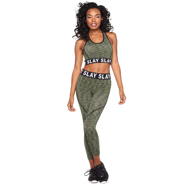 Eat, Sleep, Slay Olive 2-Piece Performance Set - Citi Trends Plus and Ladies - Front