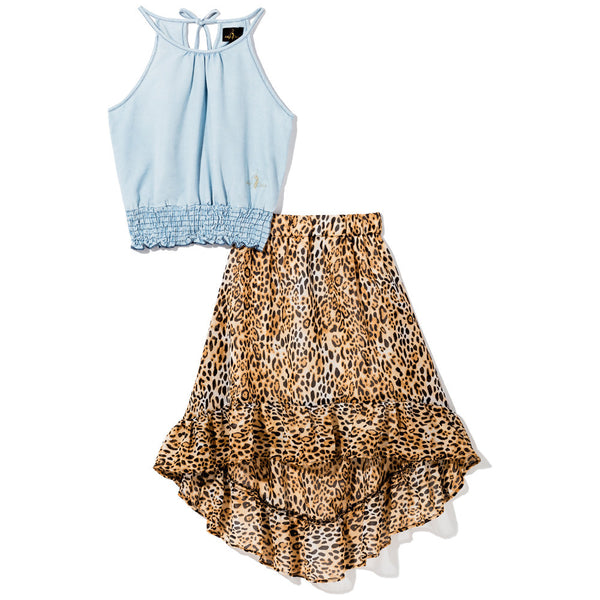 Fierce Mix Girls Baby Phat 2-Piece Skirt Set - Citi Trends Girls - Front