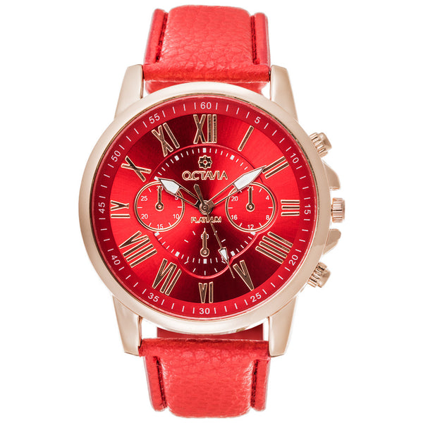 Octavia Women's Toscana Red Watch - Citi Trends Accessories - Front