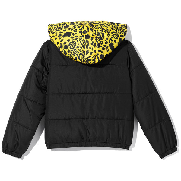 King Of The Jungle Boys Yellow Animal Print Puffer Jacket - Citi Trends Boys - Back