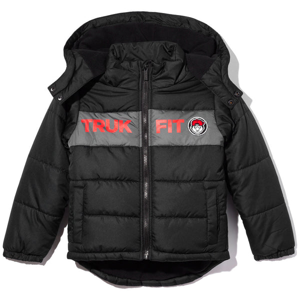Don't Flurry About It Boys Black Zip-Up Puffer Jacket - Citi Trends Boys - Front