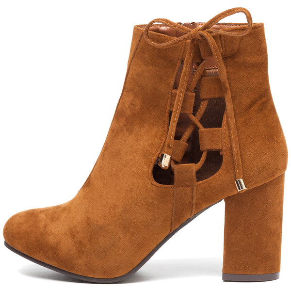 Best In Bow Rust Faux Suede Bootie - Citi Trends Shoes - Side