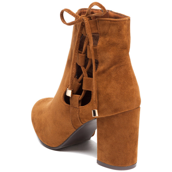 Best In Bow Rust Faux Suede Bootie - Citi Trends Shoes - Back