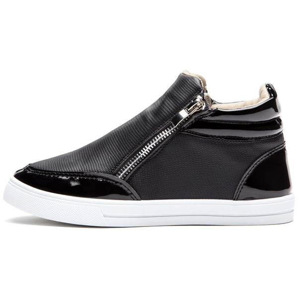 Style For Miles Girls Black High-Top Sneaker - Citi Trends Girls - Side