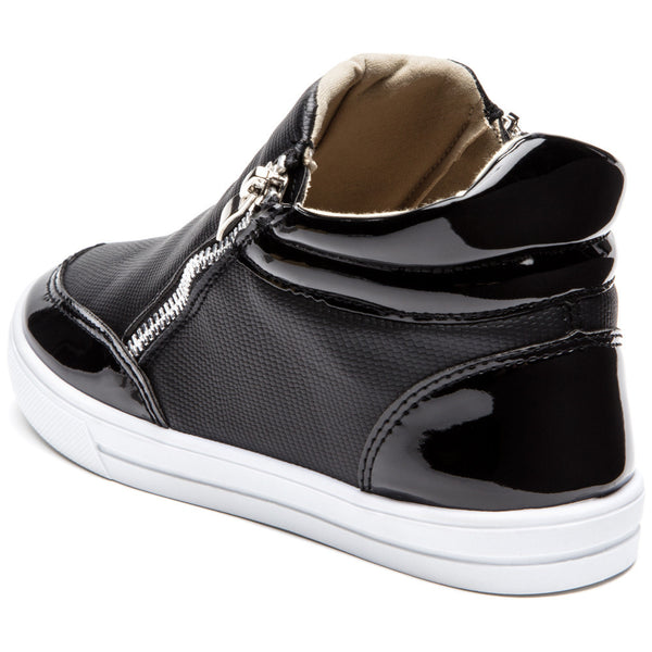 Style For Miles Girls Black High-Top Sneaker - Citi Trends Girls - Back