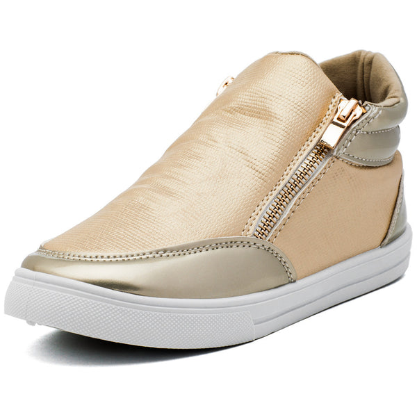 Metallic Mode Girls Gold High-Top Sneaker - Citi Trends Girls - Front