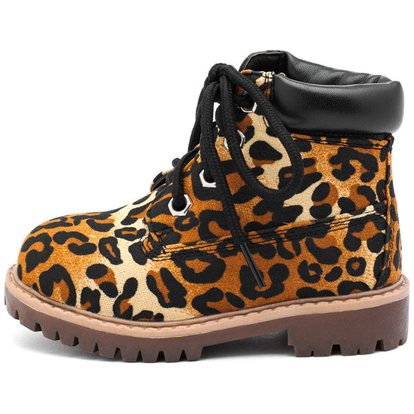 Take A Hike Girls Leopard Print Work Boot - Citi Trends Girls - Side