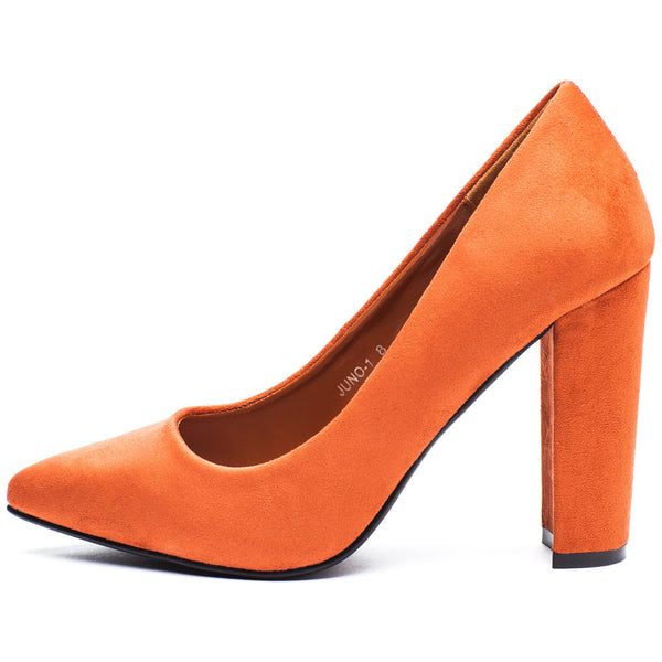 In Chic Motion Rust Faux Suede Pump - Citi Trends Shoes - Side