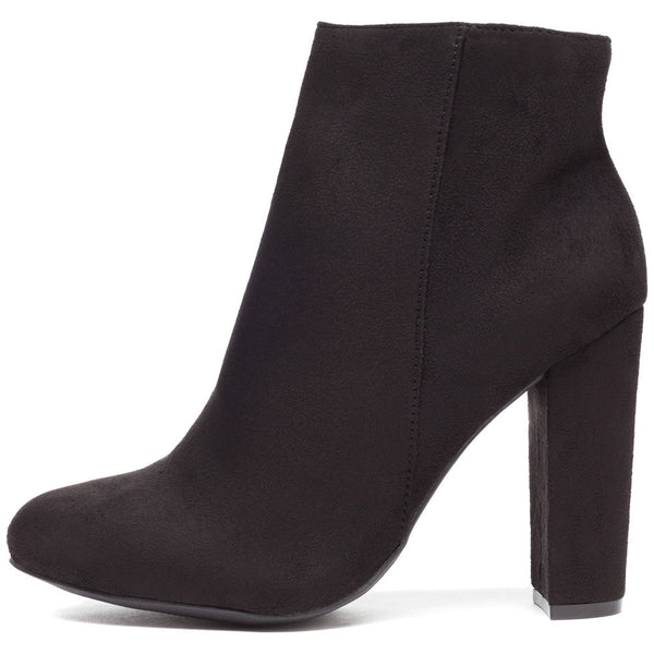 Block Party Black Faux Suede Bootie - Citi Trends Shoes - Side