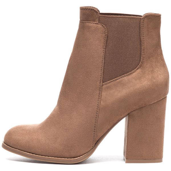 Stretch To It Taupe Faux Suede Bootie - Citi Trends Shoes - Side