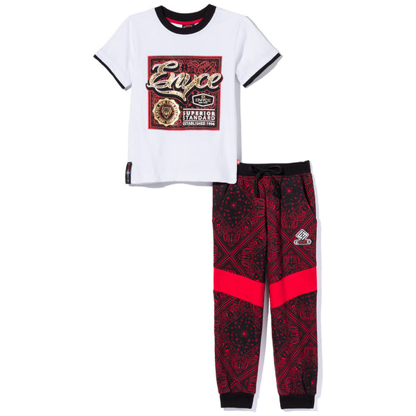 Paisley On Point Boys 2-Piece Jogger Set - Citi Trends Boys - Front