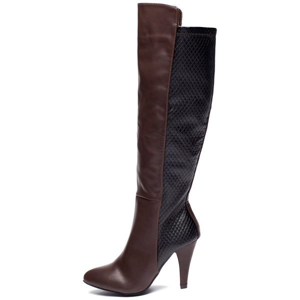 Quilted Quest Brown Over-The Knee Boot