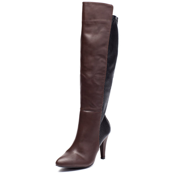 Quilted Quest Brown Over-The-Knee Boot