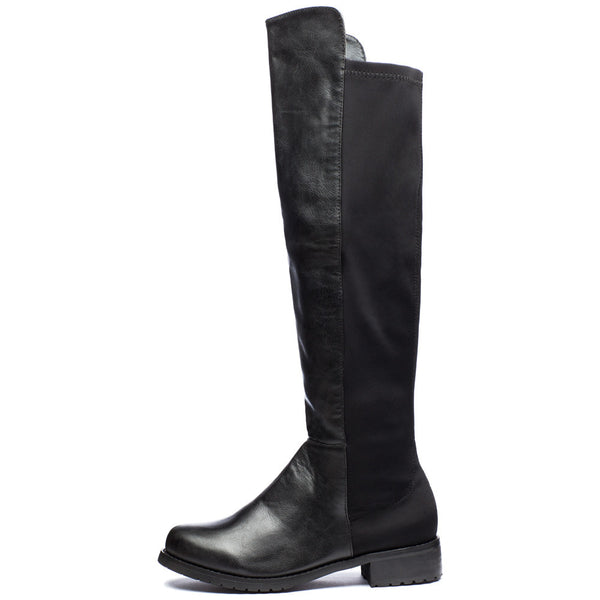 Kick It Up Black Over-The-Knee Riding Boot - Citi Trends Shoes - Side