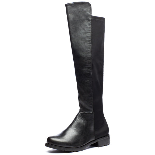 Kick It Up Black Over-The-Knee Riding Boot - Citi Trends Shoes - Front