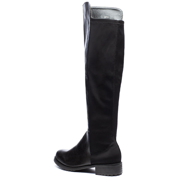 Kick It Up Black Over-The-Knee Riding Boot - Citi Trends Shoes - Back