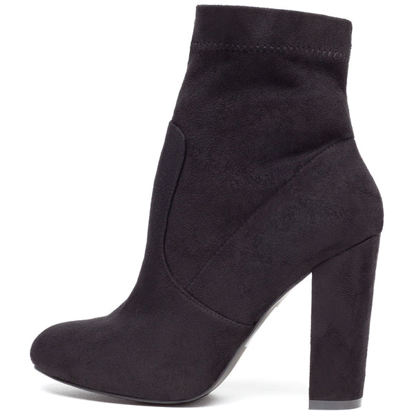 Pair With Ease Black Faux Suede Bootie - Citi Trends Shoes - Side