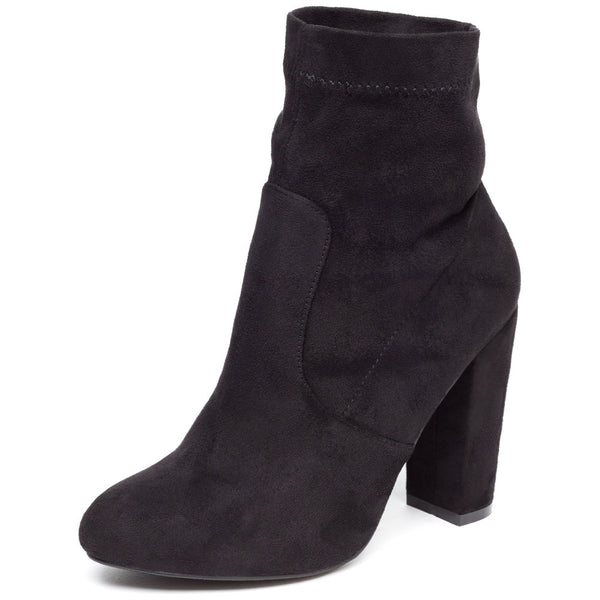 Pair With Ease Black Faux Suede Bootie - Citi Trends Shoes - Front
