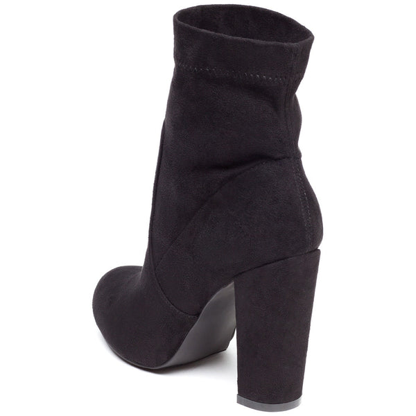 Pair With Ease Black Faux Suede Bootie - Citi Trends Shoes - Back