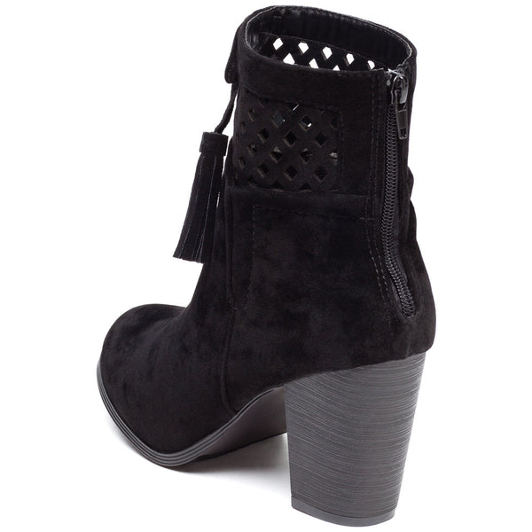 A Cut Above Black Faux Suede Bootie - Citi Trends Shoes - Back