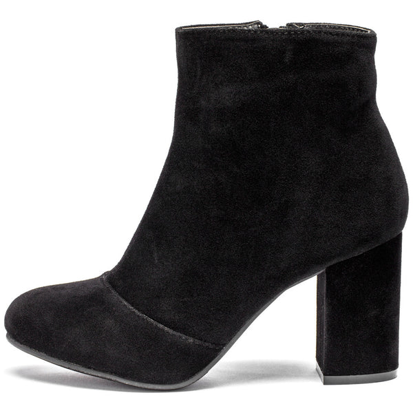 No Doubt About It Black Faux Suede Bootie - Citi Trends Shoes - Side